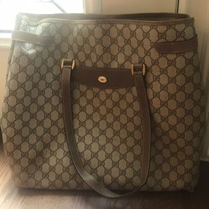 Large Vintage Gucci Tote